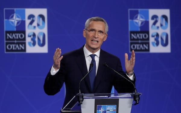 NATOのストルテンベルグ事務総長は、タリバンの制圧について「予想外の速さ」と語った=ロイター
