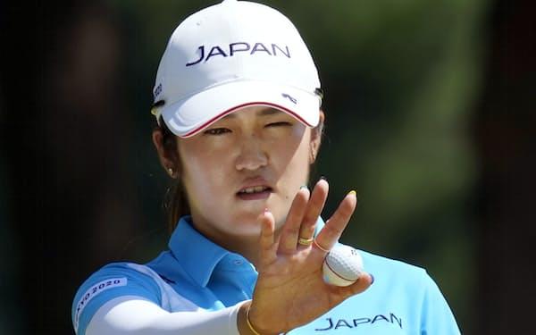 東京五輪で稲見はコとの銀メダル決定戦に自信満々で臨み見事に制した=共同