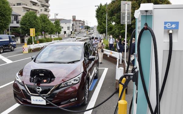 電動車の普及で自動車部品メーカーやガソリンスタンドの業態転換が必要になる=共同