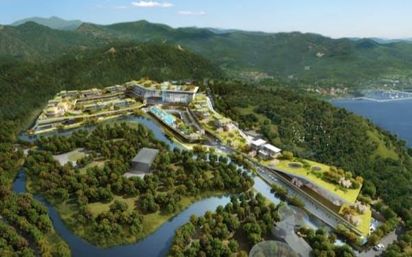 オークラが上海に開業する新ホテルのイメージ