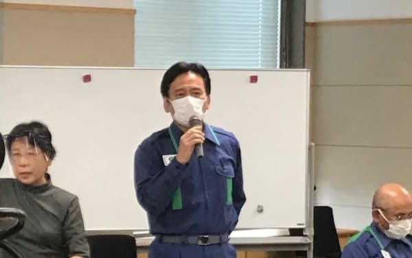 対策本部会議で対策を説明する山口知事㊥(18日、佐賀県庁)