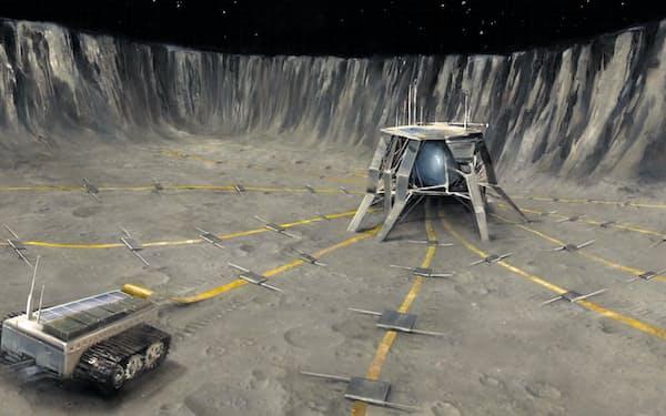 月面の電波望遠鏡の想像図=ROBERT HUNT提供