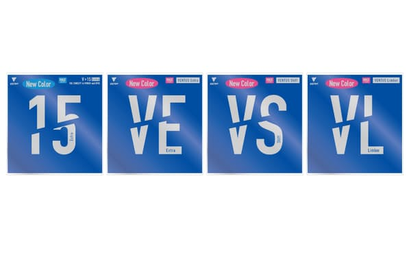 4種類のラバーに新色のブルーとピンクを追加する