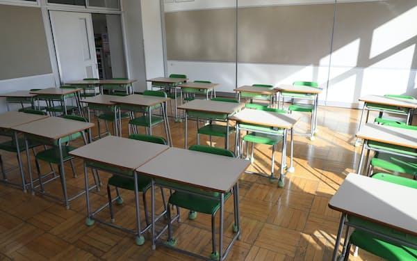 新型コロナウイルスの感染拡大で、休校した小学校(3月9日、東京都港区)