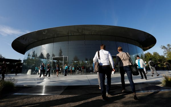 米カリフォルニア州にあるアップル本社内の施設=ロイター