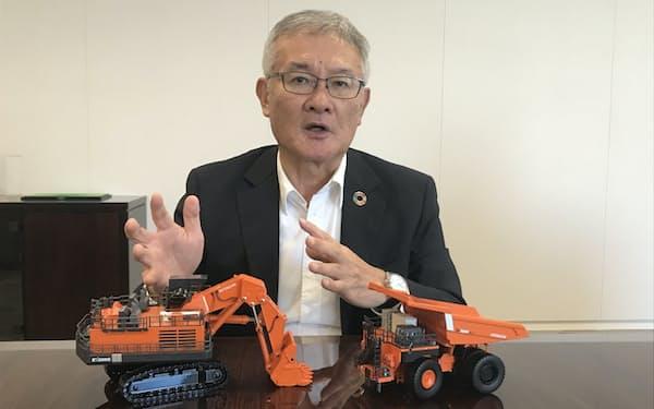 日立建機の平野耕太郎社長は「北米は安全性や環境など最先端の機能を求める顧客が多い」と語る