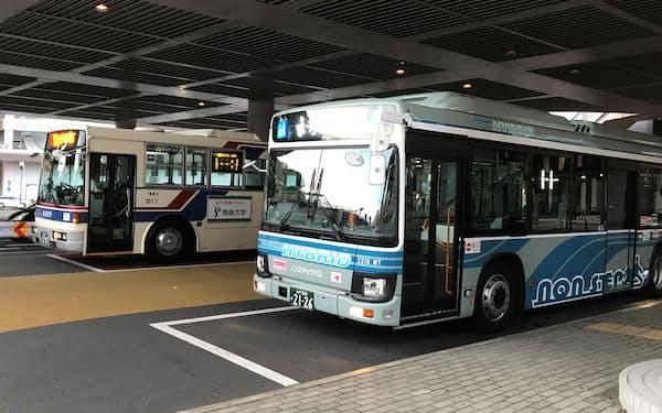 茨城交通と関東鉄道は水戸市などで営業エリアが重複している