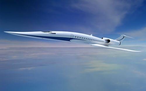 超音速旅客機の飛行イメージ(JAXA提供)
