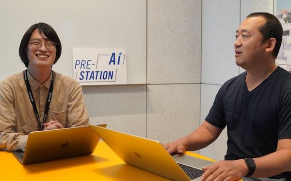 育成プログラムを統括する篠原豊氏㊨は「スタートアップの成長速度を引き上げたい」と話す(名古屋市)