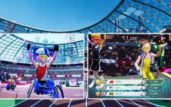 パラアスリートとなったアバターが様々な競技を体験する(JP GAMES提供)