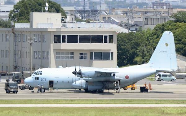 航空自衛隊のC130輸送機=共同