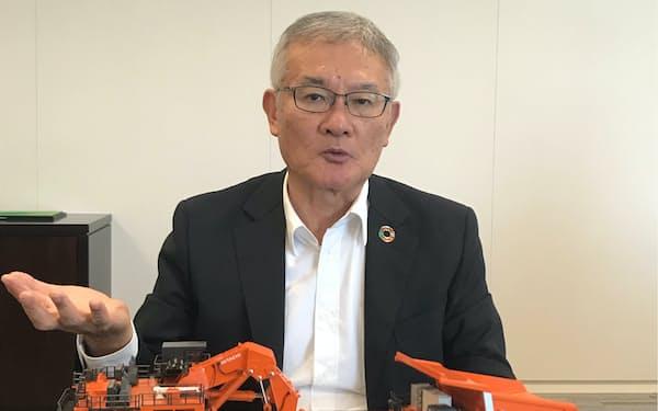 日立建機の平野耕太郎社長
