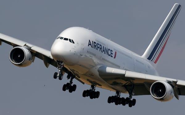 エールフランスはコロナの感染拡大を受けてエアバス「380」を退役させた=ロイター