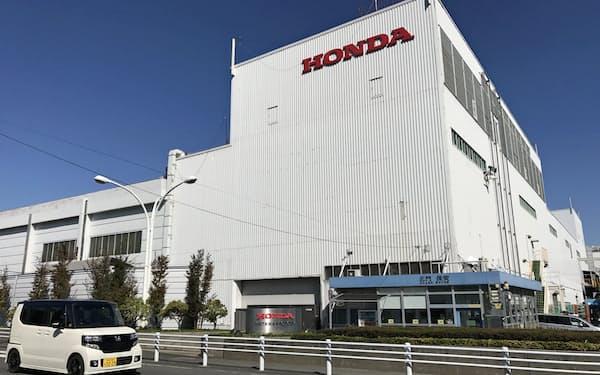 感染再拡大が自動車生産に響いている(埼玉県狭山市にあるホンダの狭山工場)
