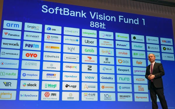 ビジョン・ファンドの1号ファンドはウーバーテクノロジーズなどに投資した(2019年11月、東京都中央区)