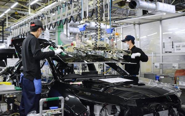 資源価格の上昇などで自動車用鋼材の値上げが決まった(トヨタ自動車の愛知県豊田市の高岡工場)