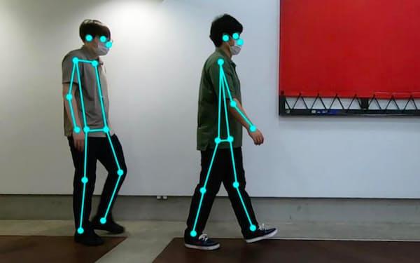 動画から歩行機能をAIが分析し、リハビリなどに活用できる(イメージ)