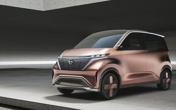日産が2019年に発表した軽自動車クラスのコンセプトカー「ニッサン IMk」