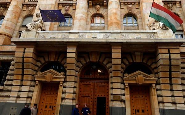 ハンガリー国立銀行(ブダペスト)=ロイター