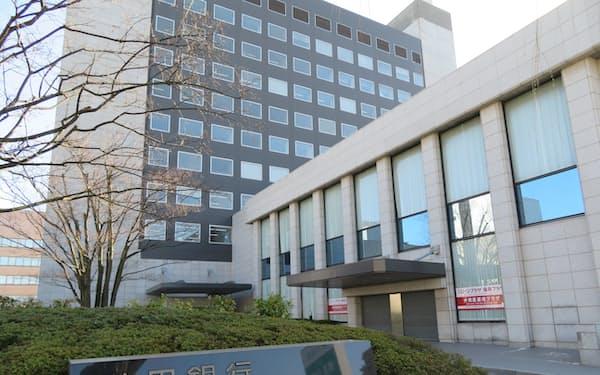 秋田銀行の本店(秋田市)