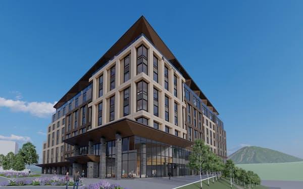 「ニッコー」ブランドの新ホテルは地上8階、地下1階建てだ(イメージ)