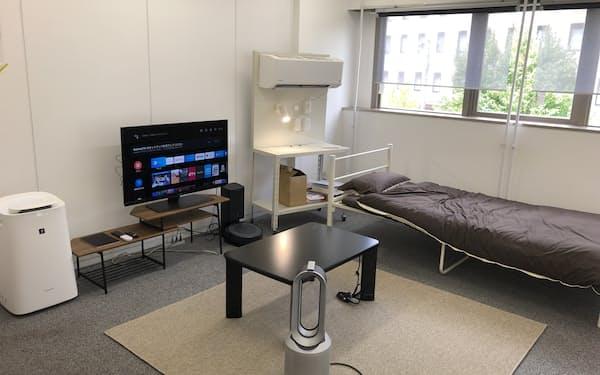 慶大の「慶応藤沢イノベーションビレッジ」内にスマートルームを設置し、共同研究する