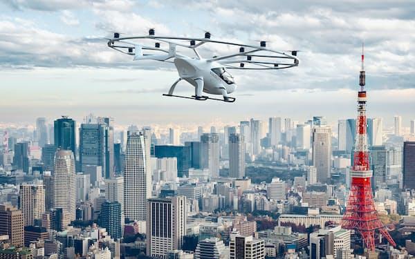 「空飛ぶクルマ」の実用化に向け、2025年の国際博覧会(大阪・関西万博)での実証実験までに運航管理技術の確立をめざす