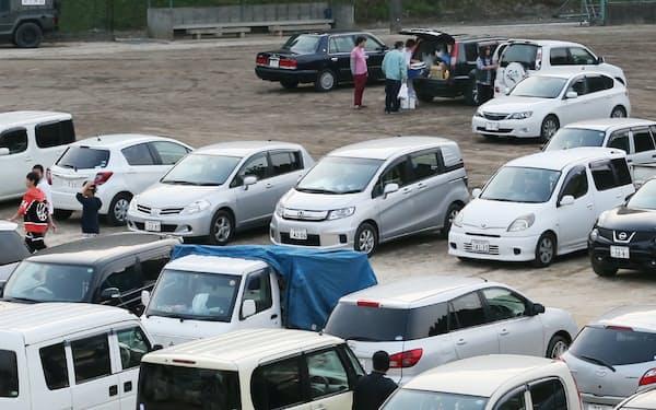 災害発生時には、避難者が車中泊をするスペースが必要になる
