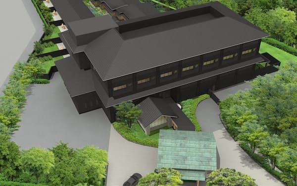 佐賀県嬉野市で開発する温泉宿泊施設のイメージ