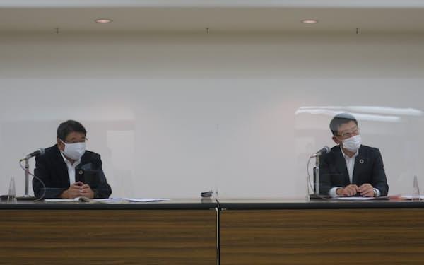西日本シティ銀行は九州電力と知的財産を活用した連携事業を始めると発表した(26日、福岡市)