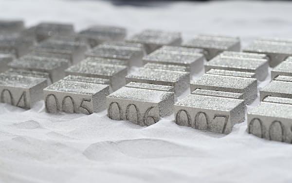 3Dプリンターで試作した金属部品