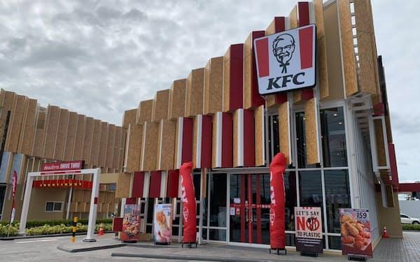 環境や動物愛護意識の高い消費者の需要を取り込む(タイのKFC店舗)
