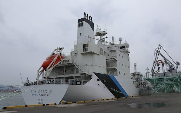 川崎重工業の子会社などは液化水素を運ぶ大型船を建造する