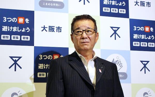 日本維新の会代表の松井一郎大阪市長
