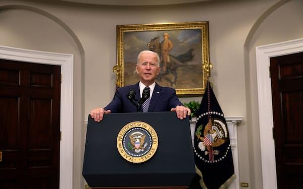 バイデン大統領はイスラエルのベネット首相との会談を延期した=ロイター