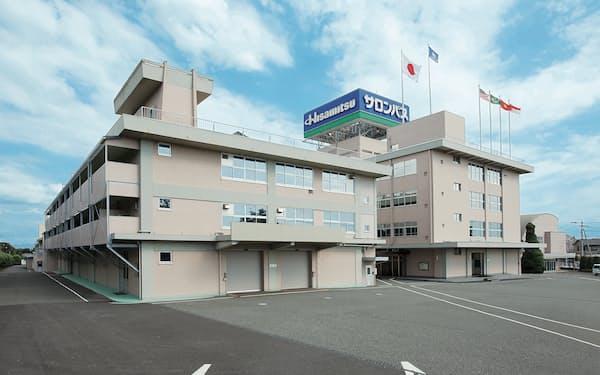 久光製薬はサロンパスなどの販売が回復傾向にある(佐賀県鳥栖市の九州本社の外観)