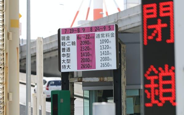 首都高は東京五輪期間中に変動料金を実施した(東京都千代田区)