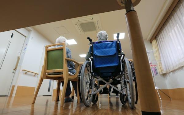 特別養護老人ホームの入所者