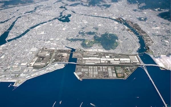 広島市のマツダの本社工場
