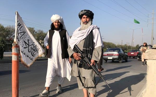 タリバンは新政権樹立に向け防衛体制の整備を急いでいる=ロイター