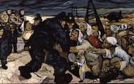 砂川事件の模様を描いた画家・中村宏氏の「砂川五番」(東京都現代美術館蔵)