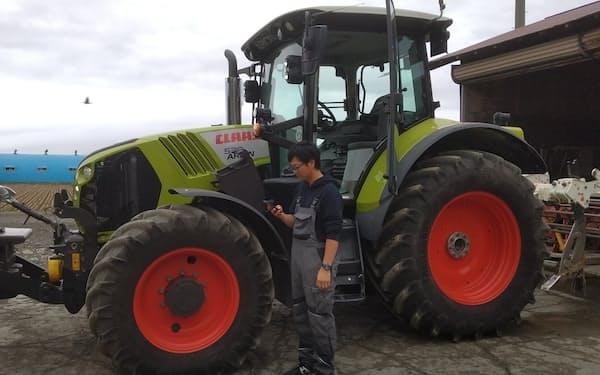 農作業の合間でもスマホで簡単に「写メ簿記」のサービスを利用できる