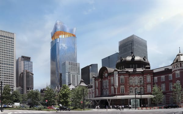 三菱地所が東京駅前で開発を進める「トーチタワー」(完成イメージ)
