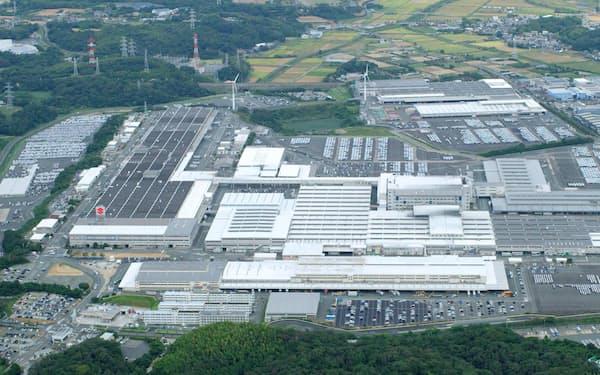 国内工場は一部稼働停止を余儀なくされた(湖西工場)