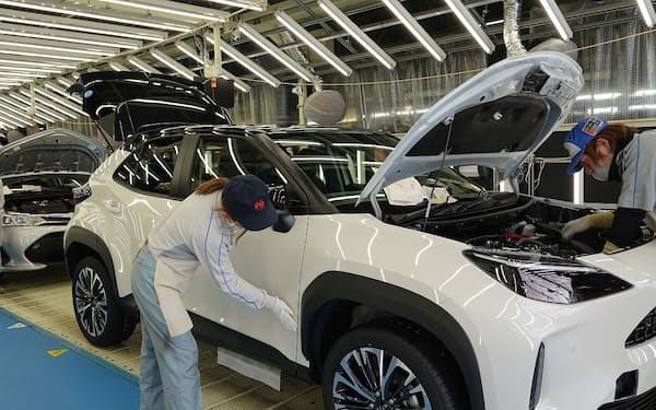 トヨタは9月に世界生産を4割減らす(東北の工場)