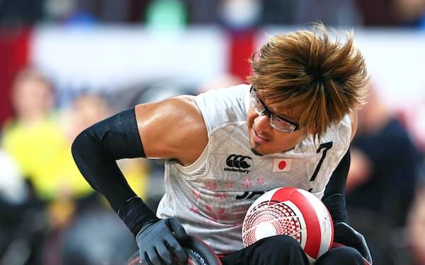 パラリンピックに出場した車いすラグビーの池崎大輔選手(8月29日の3位決定戦)