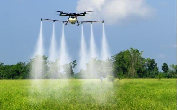 中国ではドローンによる農薬散布が進む