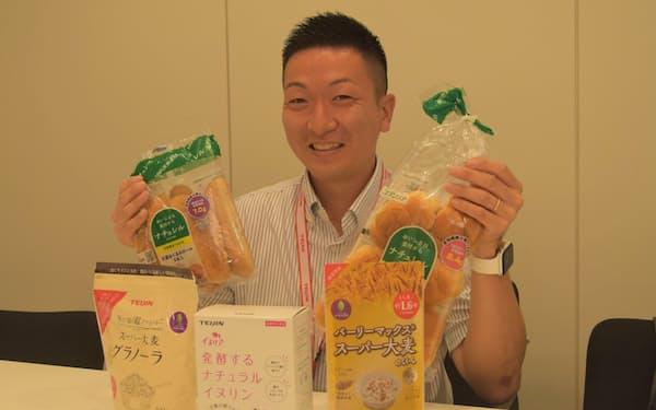 帝人の千野一茂さんは機能性食品向けのスーパー大麦などで販売を大きく伸ばした