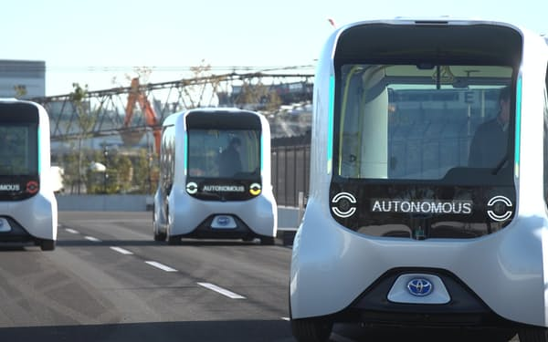トヨタは自動運転バス「イーパレット」を選手らの送迎用に提供していた