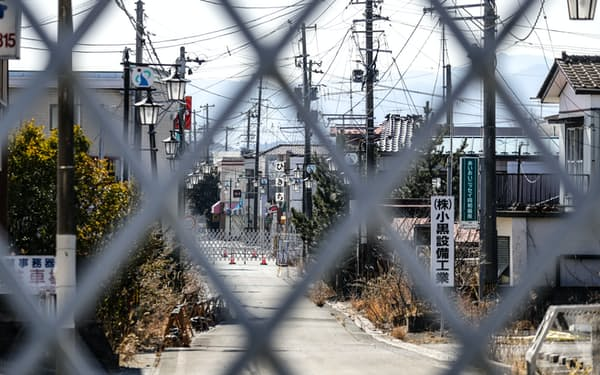 帰還困難区域が残る福島県大熊町